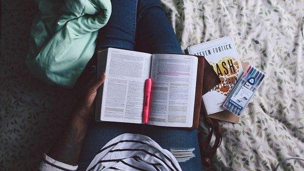 Persona, La Lectura, Estudiar En, Cama